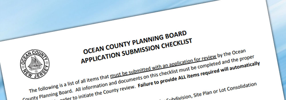 ocean county applications form